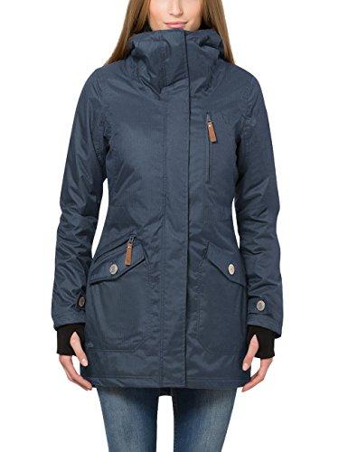 Berydale Parka da donna con cappuccio e fori per il pollice, Blu, XL
