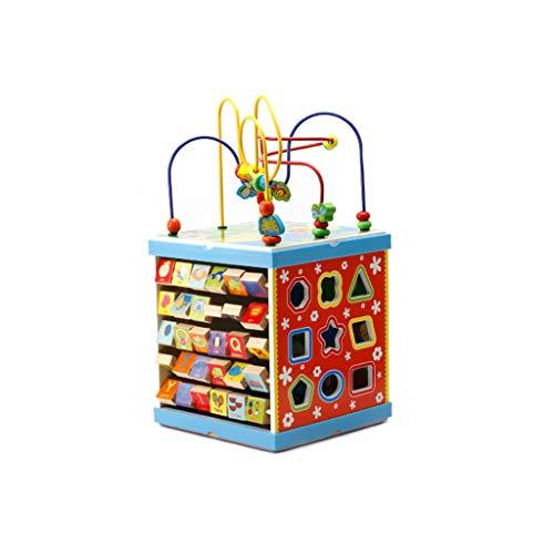 LIUFS-GIOCATTOLO Grande Hexahedron Round Bead Treasure Box 3-6 Anni Ragazzi E Ragazze Puzzle...