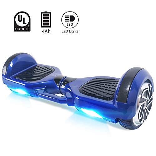 BEBK Hoverboard 6.5' Smart Self Balance Scooter, Overboard con LED Autobilanciato Scooter...