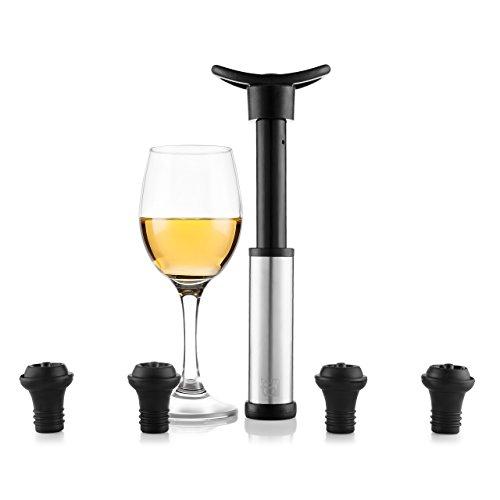 Blumtal Bomba De Vacío Para Vino - Accesorios Vino Incluye 4 Tapones. Apto Lavavajillas Y Reutilizable