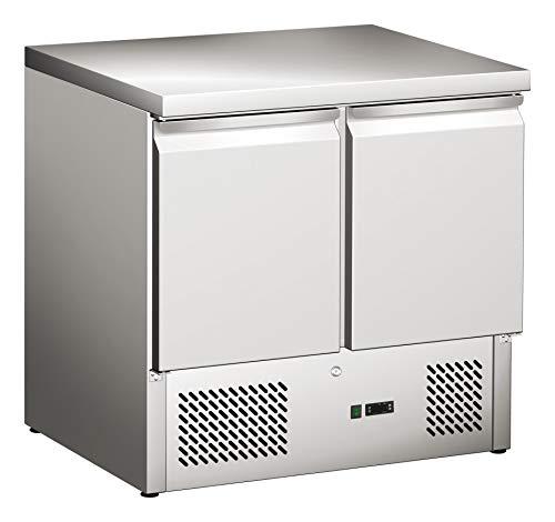 Tavolo refrigerante con 2 ante, tavolo per pizza, tavolo da lavoro, frigorifero, tavolo da...