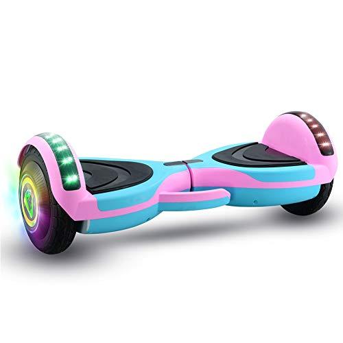 8'Hoverboard, Pattino Elettrico Red Hot Wheels, Tavola A LED Altoparlante Bluetooth Hover, 2 * 250W...