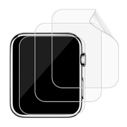 JETech 0870B - Pellicole Protettive TPE per Apple Watch 42mm, per Serie 1, 2 e 3, Confezione da 3