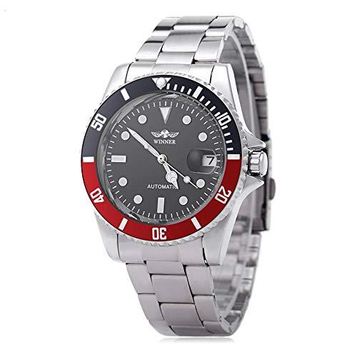 Leopard Shop WINNER W042602 Orologio automatico da orologio con datario, colore: trasparente brillante,#3