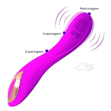 HZB-toys-Appareil-de-Massage-Femelle-charg-par-USB-de-Dispositif-Vibrant-de-Sexe-de-Barre-vibrante-charge-par-Sexe-de-Produits-dadulte-Color-Purple