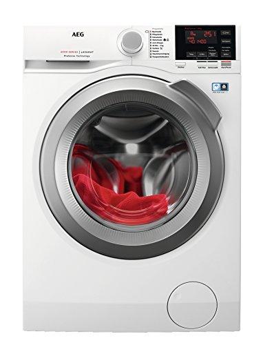 AEG L6FBA48 Waschmaschine / 8,0 kg / Leise / Mengenautomatik / Nachlegefunktion / Kindersicherung / Schontrommel / Allergikerfreundlich / Wasserstopp / 1400 U/min