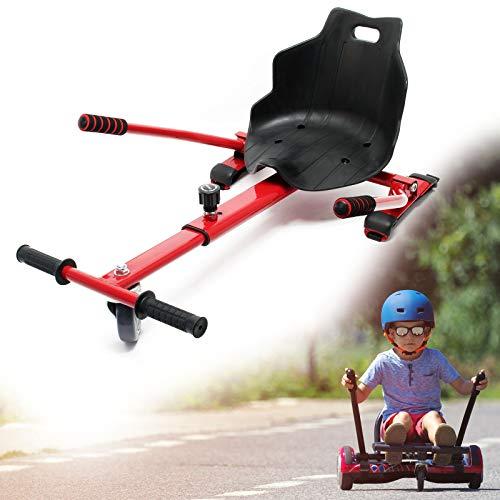 Wiltec Hoverseat Sedile per Hoverboard Scooter Elettrico autobilanciato Rosso