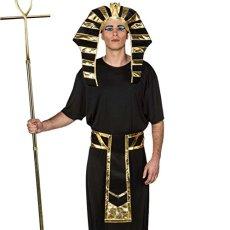 cf4d98b5a1 NET TOYS Set Disfraz faraón Accesorios Rey Egipcio Sombrero y cinturón  Complementos Traje Egipto Vestimenta Carnaval