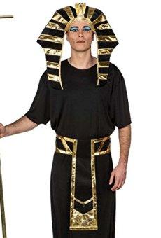 Amakando Accesorios Rey Egipcio Set Disfraz faraón Sombrero y cinturón Vestimenta Carnaval Edad Antigua Fiesta temática antigüedad Complementos Traje Egipto Accesorios carnavaleros tutancamón