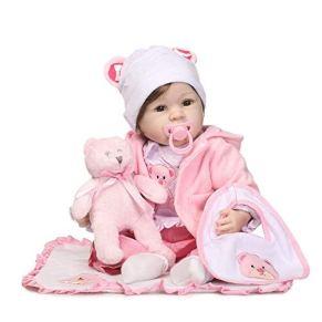 iCradle Muñeca Reborn 22 Pulgadas Chica Encantadora Princesa Reborn Baby Doll Cuerpo de Silicona Suave Muñeca Realista Regalo de Cumpleaños
