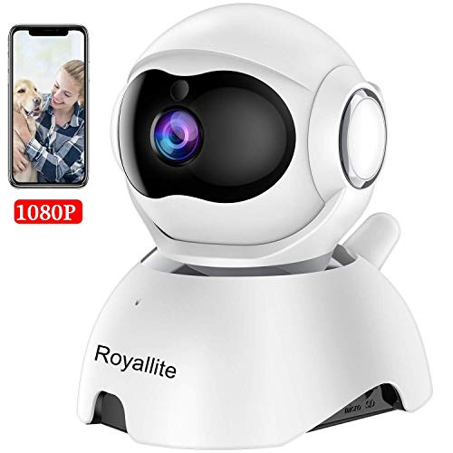 Royallite 1080P Wireless IP Camera, 360 Home WiFi Security Camera Indoor Surveillance Camera System Panorama View for Pet/Baby Monitor Remote Viewer Nanny Cam with Pan/Tilt.
