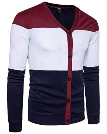 PAUSE Multicolor Solid V Neck Slim Fit Full Sleeve Men's Shrug 3