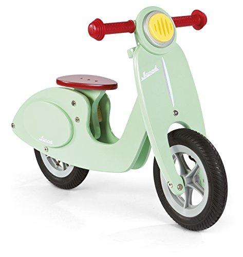 Janod J03243 - Bicicletta senza pedali Scooter, Legno, Color Menta