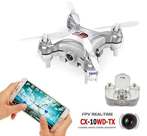 ETbotu Quadricotteri Drone Cheerson CX-10WD-TX 2.4GHz 4CH 6-axis Wifi FPV Quadcopter 3D Eversion...