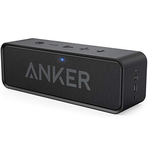 Anker SoundCore Mobiler Bluetooth 4.0 Lautsprecher, unglaubliche 24-Stunden-Akkulaufzeit und Dual-Treiber Wireless Speaker mit reinem Bass und eingebautem Mikrofon für iPhone, Samsung usw. (Schwarz)