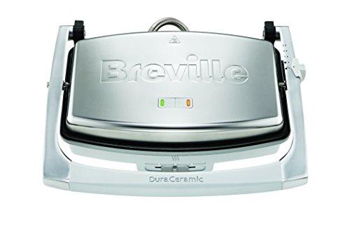 Breville DuraCeramic Pressa da 1000 W, Argento