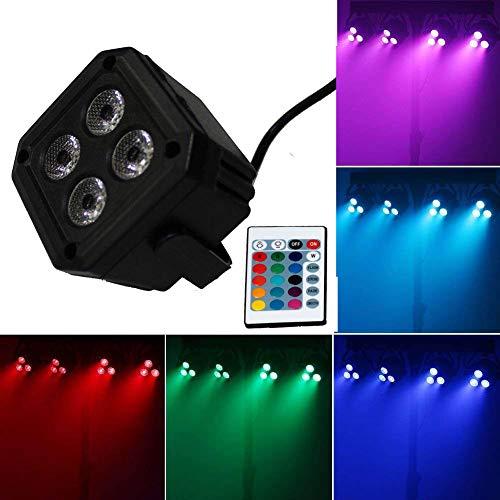 CITRA DJ Par Light 4 LEDs 20W 512 RGBW with 24 Key Remote Controller Color Mixing Wash Can Par Light for Disco Diwali Christmas Wedding Party Show Live Concert Stage Lighting