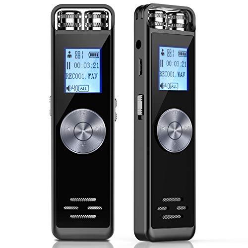 Registratore Vocale Digitale,ADOKEY 8GB HD Audio Portatile Registratore Voice Recorder Registratore...