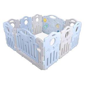 WHYDIANPU Cerca de barandilla para bebés Seguridad para niños pequeños Barra de rastreo Colchoneta de Escalada Piscina de Juegos Cerca Resistente a los Golpes ( Color : Azul )