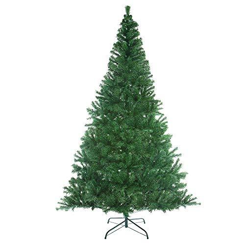 Casaria Albero di Natale 180cm 533 Rami PVC Supporto in Metallo Abete Artificiale Decorazione Natalizia Verde