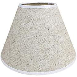 Pantalla de lámpara,Pantalla de Tela Redonda para Lampara del pared, techo, mesa de Dormitorio Pasillo Estudio (Lino)