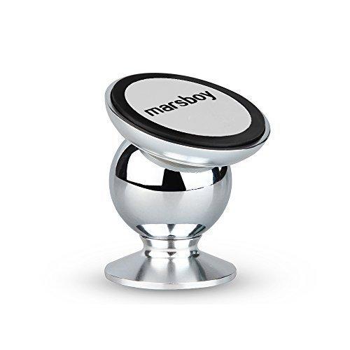 Marsboy SX-003 - Soporte Metálico Rotación 360° con Imán Magnético de Coche para Aparato Móvil iPhone, Samsung, Otro <stro data-recalc-dims=