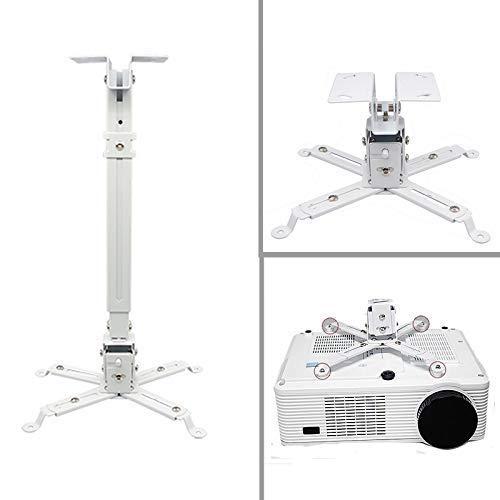 Caprigo Super Heavy Duty - 2 Feet Projector Ceiling Mount Stand Adjustable Bracket (White-Weight Capacity 15 Kgs)