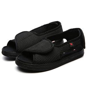 b6e7c2e1 Willsky Zapatos diabéticos para Hombres, Espuma de Memoria Zapatillas para  diabéticos Unisex Punta Abierta Ancho Ajustable Velcro Cómoda Artritis  Edema ...