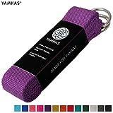 Yamkas Cinturon Yoga Correa | 1.8M - 3M | Correas Yoga Estiramiento | Yoga Strap Belt 100% Algodon | Morado