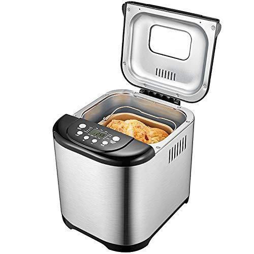 Aicok Macchina per il pane, cestino in acciaio inossidabile con capacità di 500g-1kg e 15 diverse...