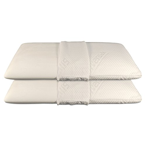 Baldiflex - Coppia di Cuscini in Memory Foam - Modello Saponetta - Fodera in Silver Safe