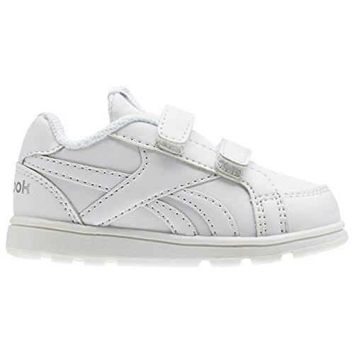 Reebok ROYAL PRIME ALT Scarpe da fitness Bambino, Bianco (White/Silver 000), 25 EU (8 UK)