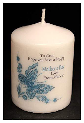 Personalizado mariposa azul vela único regalo de recuerdo para Nan Gran al tesoro para siempre!