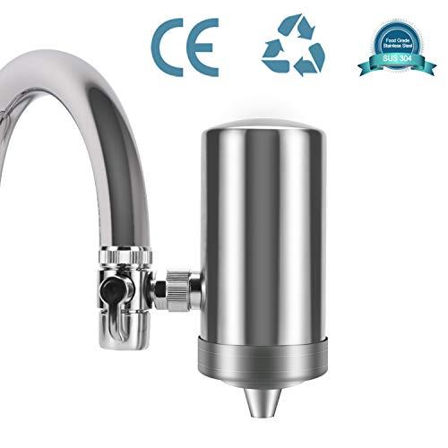 YJHome Filtro de Agua para Grifo | Filtros para Grifo de Ahorro de Acero Inoxidable 304, Sistema de filtración de Agua Saludable y de Calidad Accesorios de Cocina filtrado de grifos