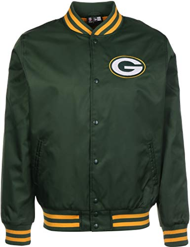New Era NFL Team Bomber Green bay Packers Giacca Bomber Cig