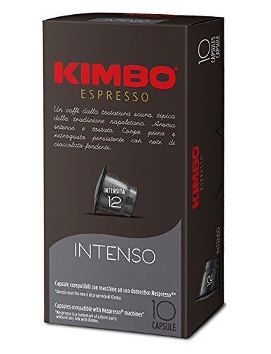 KIMBO Intenso - intensità 12- capsule compatibili Nespresso* 10 Astucci da 10 capsule (tot 100 capsule)
