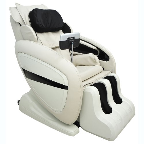 Homcom Luxury Reclining Leather Massage Chair Automatic Zero Gravity Relax chair Multifunctional Full Body Massager