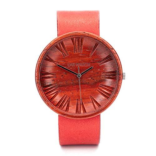 Ovi Watch - Rosso Orologio in Legno per Donna - Regalo per lei