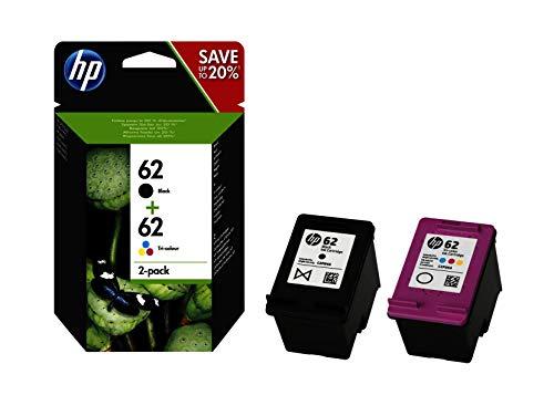 HP 62 N9J71AE Combopack da 2 Cartucce Originali per Stampanti HP a Getto di Inchiostro, Compatibile...