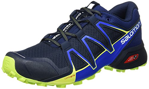 Salomon Speedcross Vario 2 Calzado de trail running Hombre, Azul (Navy Blazer/Nautical Blue/Lime Punch), 42 EU