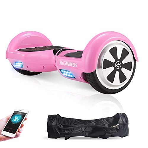 M MEGAWHEELS 6.5' Smart Self Balance 500W Motore Scooter con LED,Bluetooth Altoparlante (Rosa)