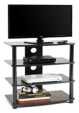 Ciatti Mobile Tv M2001L 4 ripiani in MDF laccato nero 38,8x70 cm