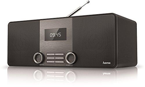 Hama DR1510 Digitalradio (DAB/DAB+/FM, Bluetooth Streaming, 2,8 Zoll LCD Display, Stereo Lautsprecher, Zwei Weckfunktionen, Aux-In, Kopfhörer Line-Out, Holzoptik) schwarz
