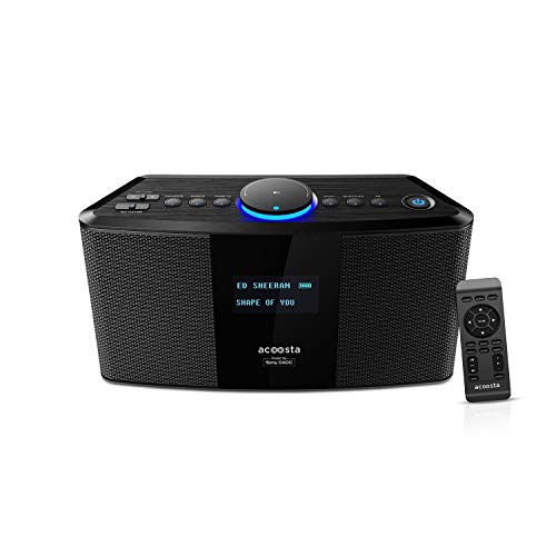 ACOOSTA UNO - 2000 watt PMPO, Preloaded 14000 Songs in 200 playlists by Sony DADC, Wireless Bluetooth Speaker with Loud Bass, Karaoke, PA System, FM Radio, Voice Recording, Upto 5hrs Playtime (Black)