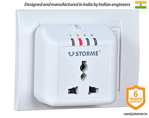 STORME Timer Socket - Automatic Power Cut-off Smart Plug (White, Plastic)