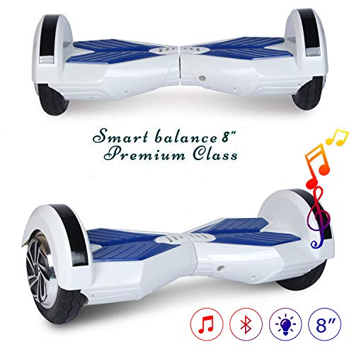 COLORWAY Hoverboard Elettrico Scooter a 8 Pollici con Bluetooth & LED Auto Balance E-Skateboard