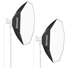 Neewer 80x80CM Caja de Luz Octogonal del Paraguas con Bowens Montura Speedring para Nikon, Canon, Sony, Pentax, Olympus, Panasonic Lumix, Neewer Flash y Otros Pequeños Flashes Estroboscópicos (2 Pack)