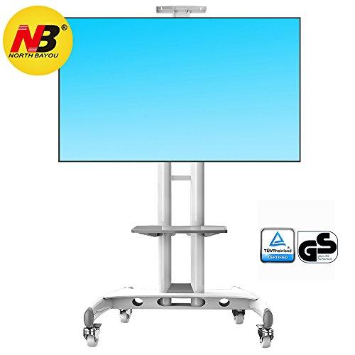 AVA1500WHT - Supporto TV da pavimento con ruote per schermi LCD LED Plasma e TV curvi da 32' a 65'...