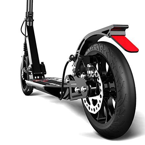 Monopattino- Scooter A Pedale Pieghevole per Adulti - 2 Ruote PU Grandi 190 Mm Scooter per Bambini,...