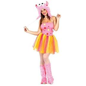 Disfraz de monstruo Pink adulta talla M (38-40)
